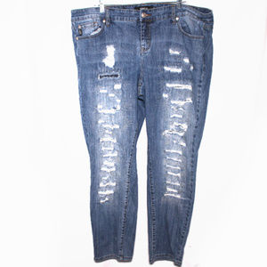Torrid Boyfriend Fit Distressed Jeans Size 22